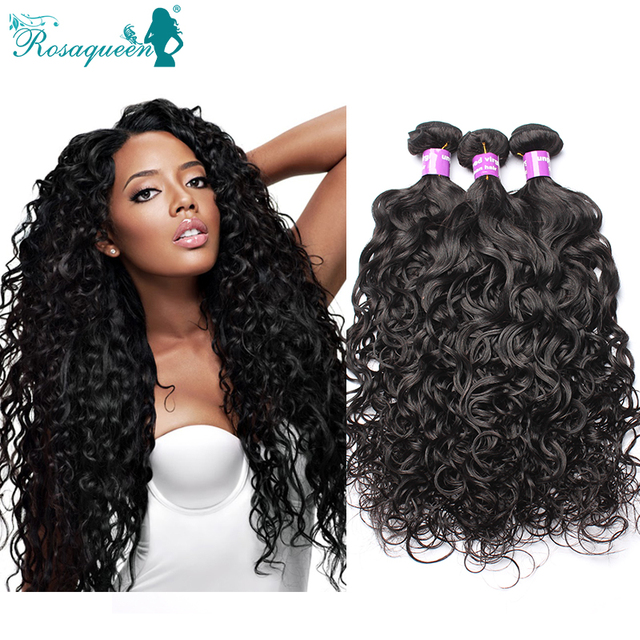 Wet And Wavy Virgin Brazilian Hair 3Pcs/Lot 7A Mink Brazilian Human Hair Weave Bundles Water Wave Rosa Queen Hair Products
