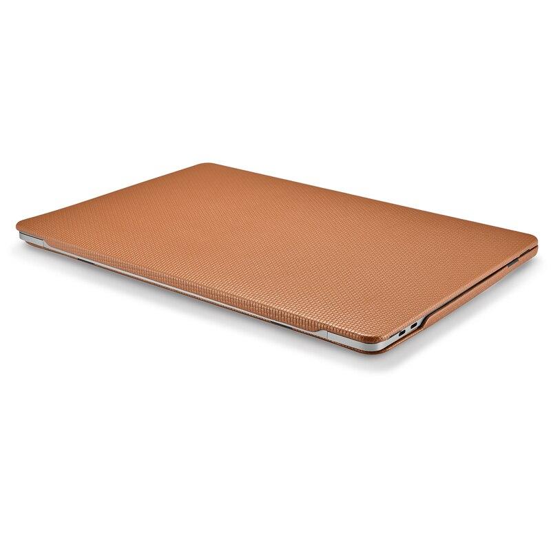 Housse pour ordinateur portable en cuir de vachette véritable pour Apple Macbook Pro 13 15 2018 2017 coque de protection pour Macbook A1706 A1708 A1989 A1707 A1990 - 4