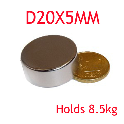 1pcs 20 mm x 5 mm craft model super powerful strong rare earth disc ndfeb magnet neo neodymium n52 magnets 20 x 5 m 20*5 аксессуар защитное стекло highscreen fest xl pro luxcase 0 33mm 82179