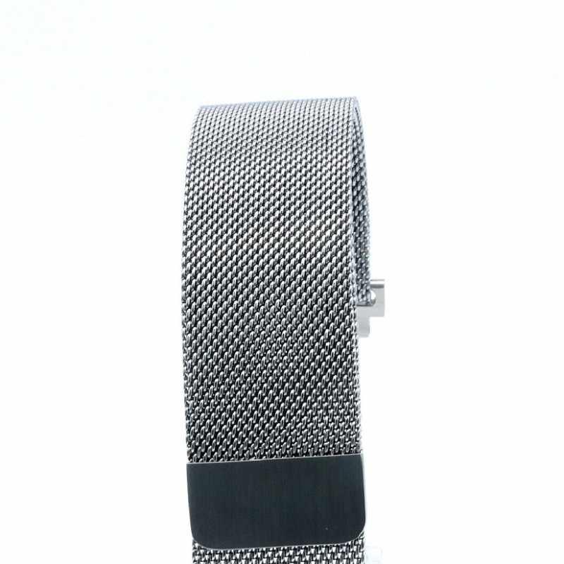 Correa de malla de acero inoxidable para los hombres del papel x pulsera inteligente de reloj de pulsera para mujer