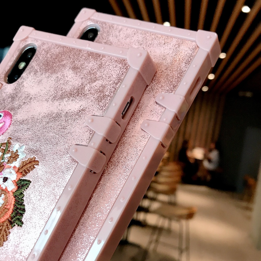 Cases For Huawei P20 Pro P20 Cover 3D Pink Embroidery  (10)