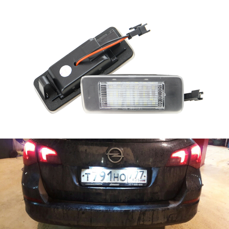 CAN-bus 18-SMD <font><b>Led</b></font> Number License Plate Light Module For Opel Vauxhall <font><b>Astra</b></font> <font><b>J</b></font> Sports Tourer Estate Zafira Tourer C 09-15 image