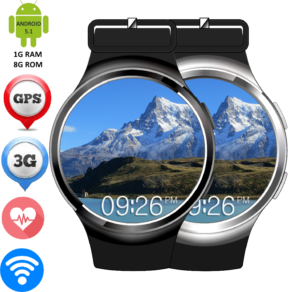 Finow X3 Plus Android 5 1 OS Smart Watch Heart Rate Monitor GSM WCDMA SIM Card