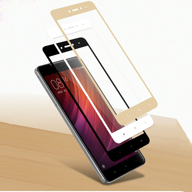 ON SALE Full Cover Tempered Glass for Xiaomi Redmi Note 4 for Xiaomi Redmi 4 pro Full Coverage Screen Protector Toughened Glass