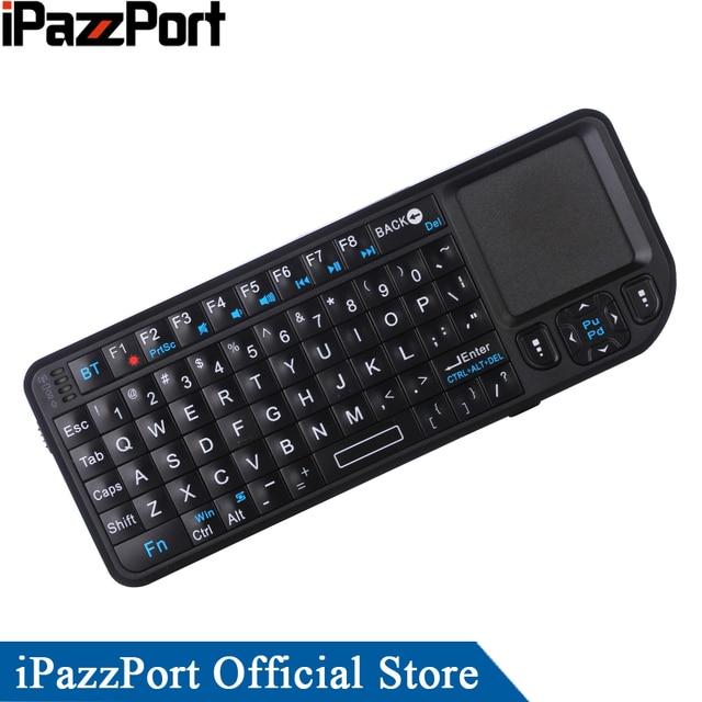 IPazzPort Rétroéclairage mini bluetooth Sans Fil souris du clavier avec pointeur laser pour tablet/smartphone/Intel Calculer Bâton