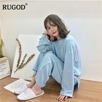 RUGOD Casual Women Pajamas 2018 New Arrival Spring Summer Autumn Female 2 piece Set Stylish Women Tops+ Bottom