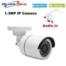 960 P ip-камера мини 1.3MP Ip-камера открытый водонепроницаемый аудио ночного Видения ONVIF CCTV Камеры Безопасности Сети IP Камера ABS пластиковые