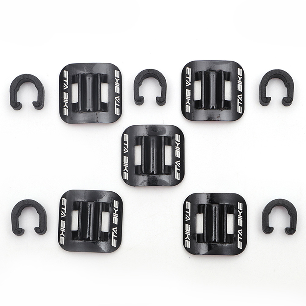 5 Pcs Conversion Tubing C Shape Oil Tube Fixed Clamp Aluminum Guide Brake Cable Clip Frame Buckle Bike Bicycle Seat
