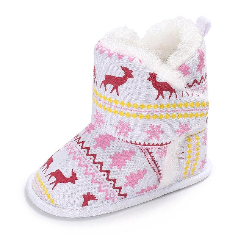 Raise Young Winter Plus Velvet Warm Baby Christian Shoes Cotton Soft Soles Plush Toddler Girl Booties Newborn Infant Boy Boots