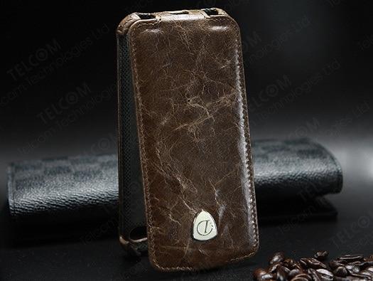 Funda para iPhone SE 5S 5 Funda de cuero genuino de lujo vintage con - Accesorios y repuestos para celulares - foto 1