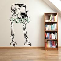 STAR WARS AT ST SCOUT WALKER Decal Vinyl Stickers Home Interior Art Design Nursery Children Kids