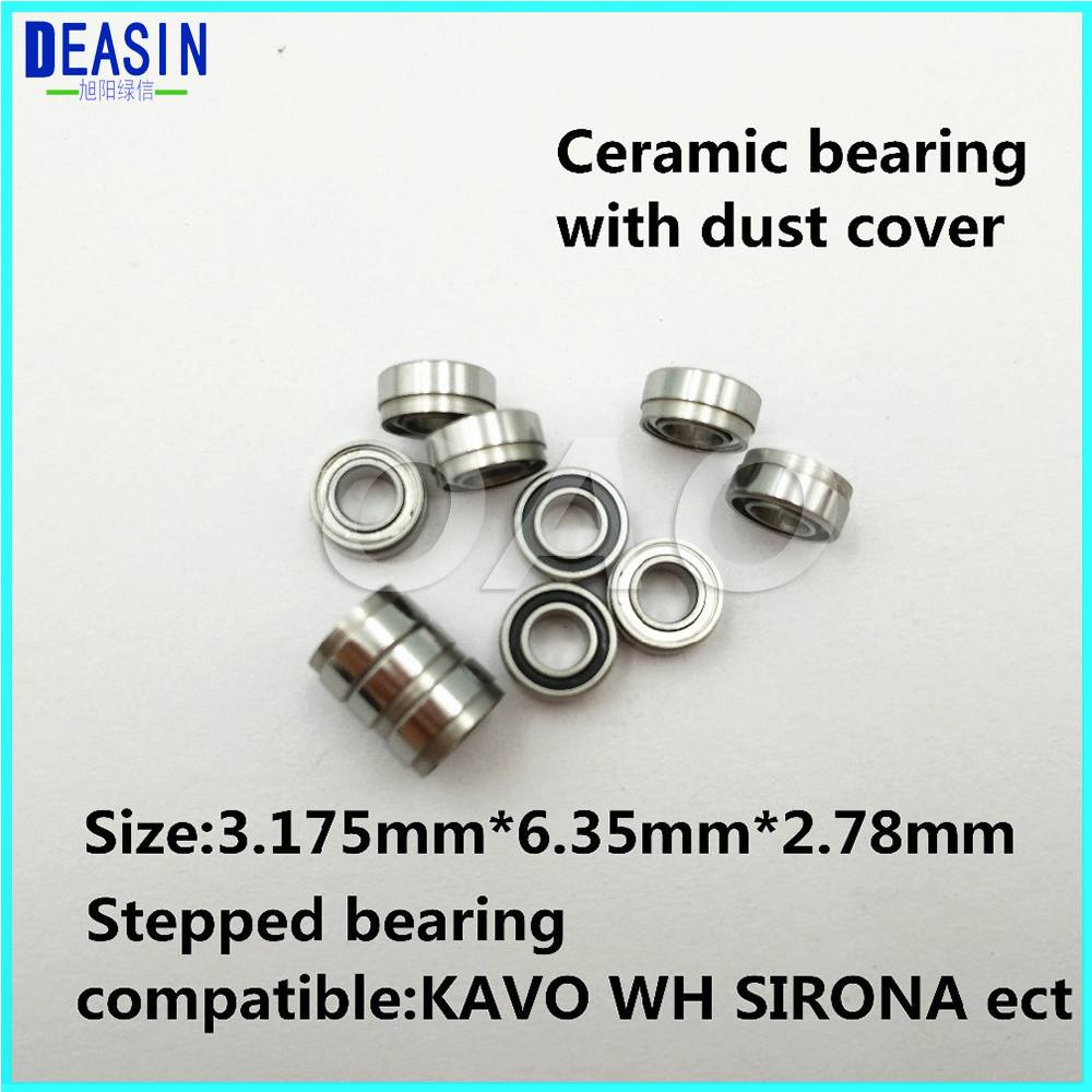 10pcs KAVO compatible handpiece bearing dental bearings ceramic balls with dust cover stepped bearing