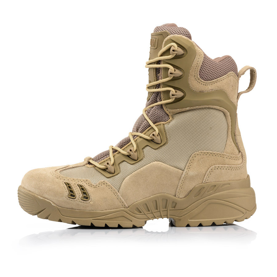 winter mens desert camouflage genuine leather army combat