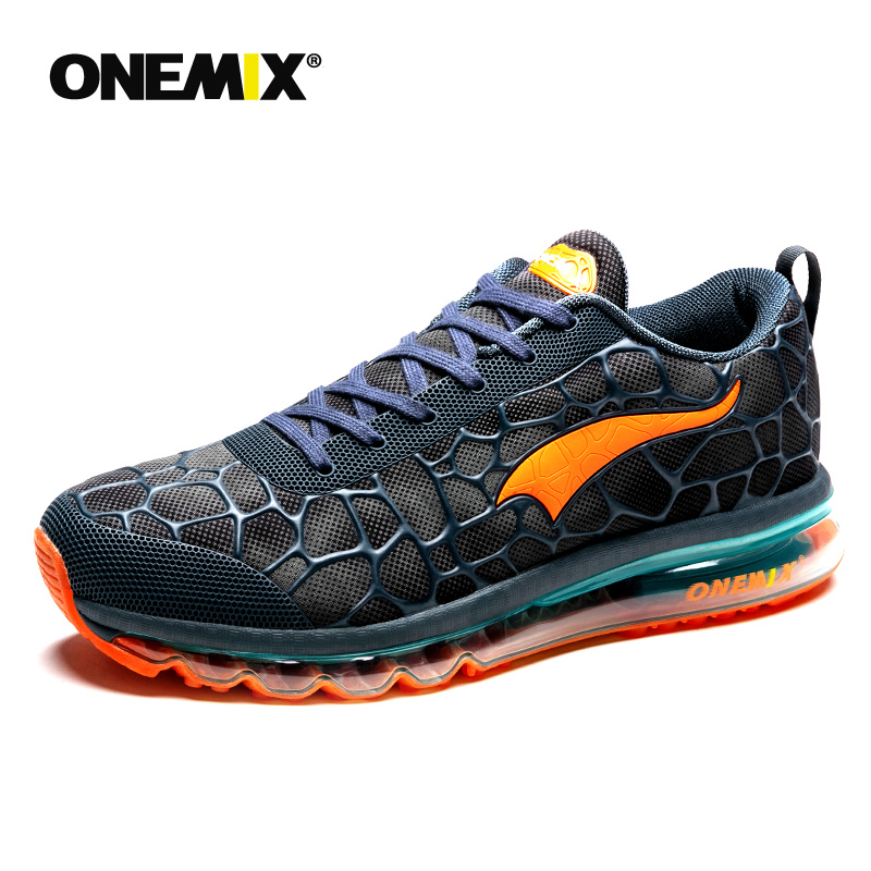 ONEMIX Men Running Shoes Breathable Massage Sneakers For Man Sport Shoes Male Athletic Outdoor Advanced Walking Sneaker Shoes