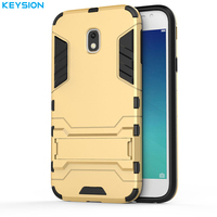 KEYSION Case For Samsung Galaxy J7 2017 EU Version Luxury Plain Plastic Silicon Back Covers For