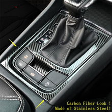 Yimaautotrims Stalls Center Control Gear Shift Cover Trim Fit For Skoda Kodiaq 2017 - 2020 Stainless Steel / Interior Mouldings yimaautotrims middle control gear shift multimedia cover trim interior mouldings fit for mercedes benz gle w166 2016 2017 2018