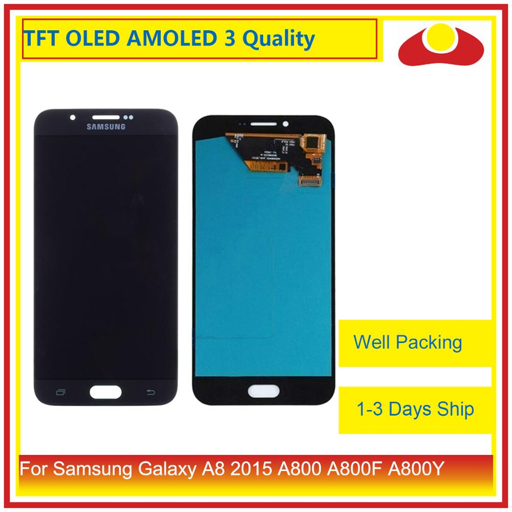 10Pcs/lot For Samsung Galaxy A8 2015 A800 A8000 A800F SM-A800F LCD Display With Touch Screen Digitizer Panel Pantalla Complete