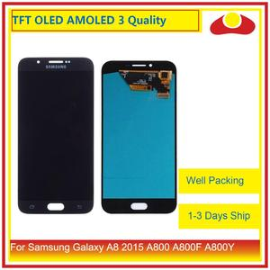 Image 1 - ORIGINAL For Samsung Galaxy A8 2015 A800 A8000 A800F SM A800F LCD Display With Touch Screen Digitizer Panel Pantalla Complete