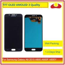 ORIGINELE Voor Samsung Galaxy A8 2015 A800 A8000 A800F SM A800F Lcd scherm Met Touch Screen Digitizer Panel Pantalla Compleet
