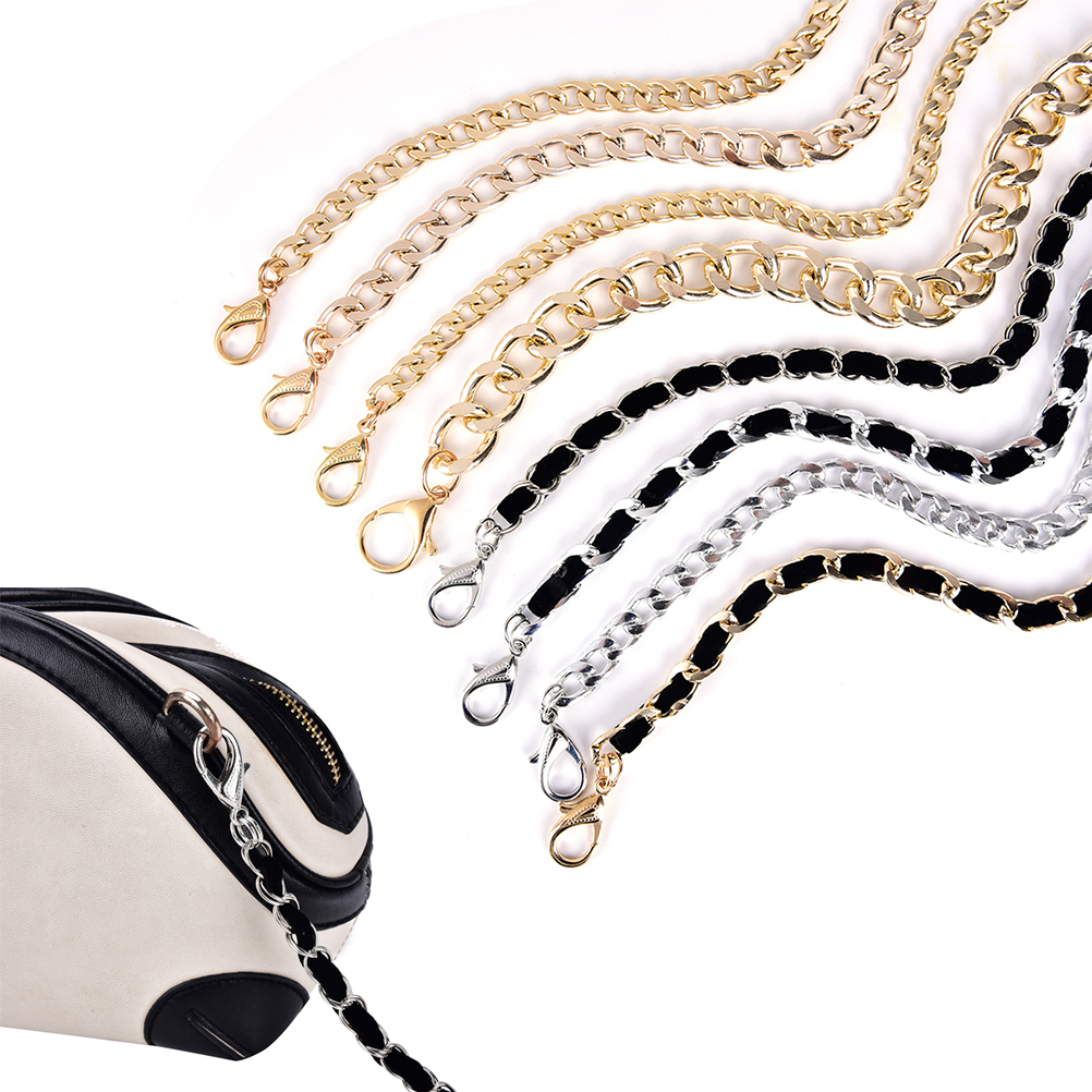 1PC 120cm Handbag Metal Chains Purse Chain With Buckles Shoulder Bags Straps Handbag Handles Bag Parts & Accessories(China)