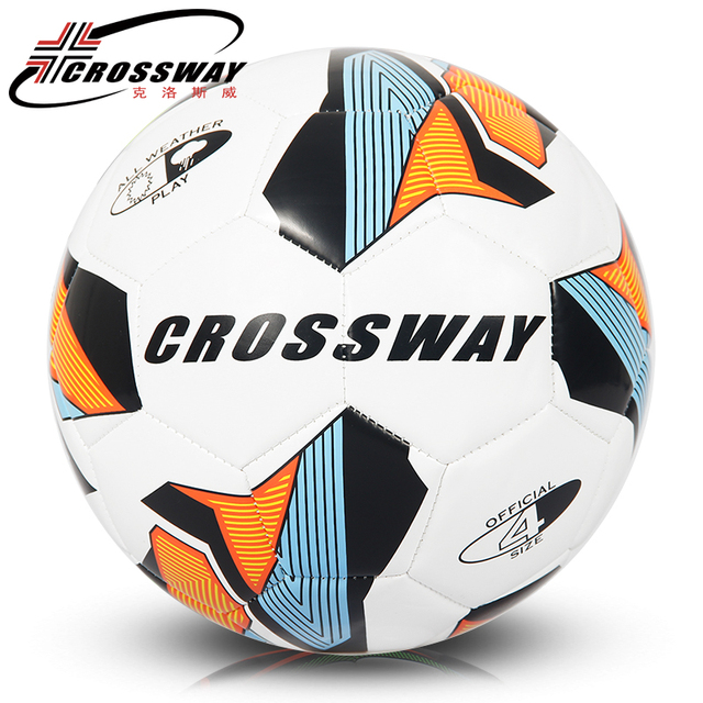 2018 CROSSWAY Official Soccer Ball Size 4 Youth Training Competition PU Leather  Football Team Balls Goal 1bae443f4e44