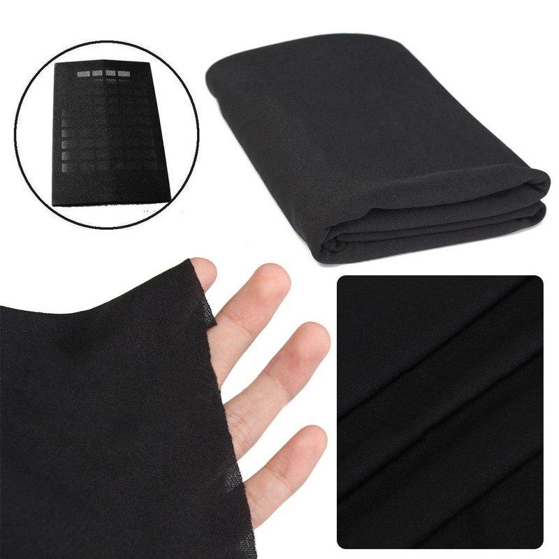 New Arrival 1pc Black Speaker Grill Mesh Cloth Dustproof Fabric Sound Protector 1.6*0.5M Mayitr