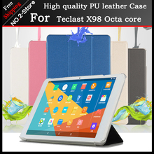 Ultra Slim PU case stand cover case for Teclast 98 Octa core/ X10 Quad core 10.1inch tablet pc Freeshipping+3 gift