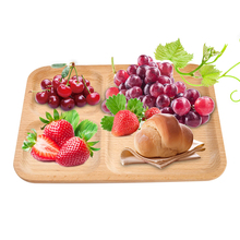 High quality Wooden food Fruits Tray Goods Storage Breakfast Serving Plate Snack Dessert Containers Trays Box Dish