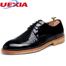 UEXIA Oxford Men Shoes Fashion Lace-Up Business Wedding Driving Moccasins Pointed Toe Breathable Solid Autumn Men's Shoe Formal