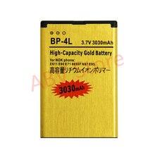 Новинка 2017 года Золотой Bateria BP-4L BP4L мобильного телефона Батарея для Nokia E61i E63 E90 E95 E71 6650f N97 N810 E72 Батарея