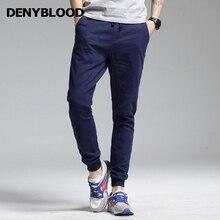 Denyblood Jeans 2017 Summer Mens Harem Pants Stretch Linen Elastane Waist Bottom Fashion Cross-pants Casual Trousers 172077