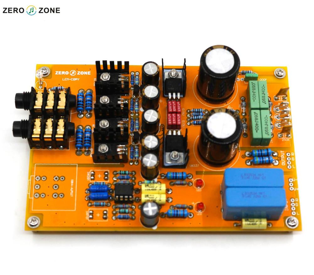 GZLOZONE Upgraded Assembled Headphone Amplifier Board Preamp Base On Lehmann Amp