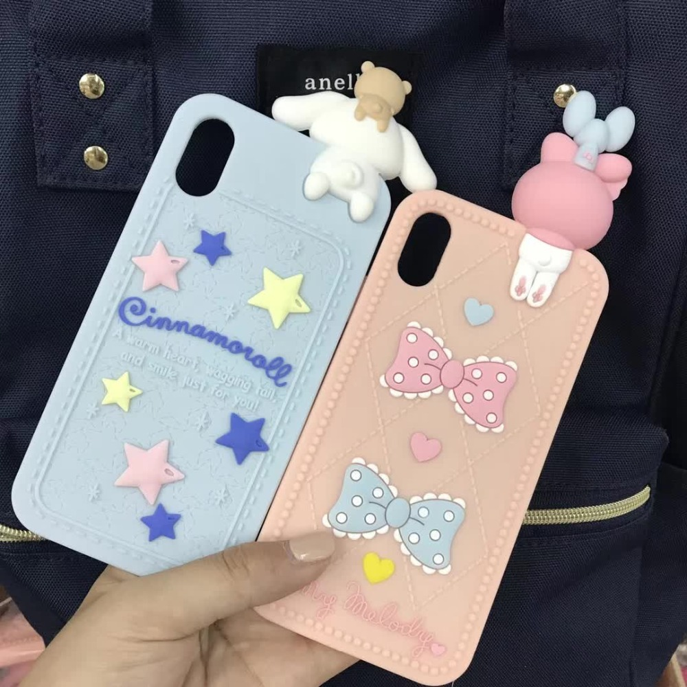 Cute 3D Silicone Cartoon My Melody Soft Phone Case Cover Coque Fundas For iPhone 7 7Plus 6 6S 6Plus 8 X XR XS MAX children caseCute 3D Silicone Cartoon My Melody Soft Phone Case Cover Coque Fundas For iPhone 7 7Plus 6 6S 6Plus 8 X XR XS MAX children case