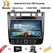 Android 6.0 4 г SIM LTE Octa core 2 г Оперативная память автомобильный DVD GPS Радио для Volkswagen Touareg 2015- 2016 с WI-FI BT USB Поддержка OBD DTV dab +