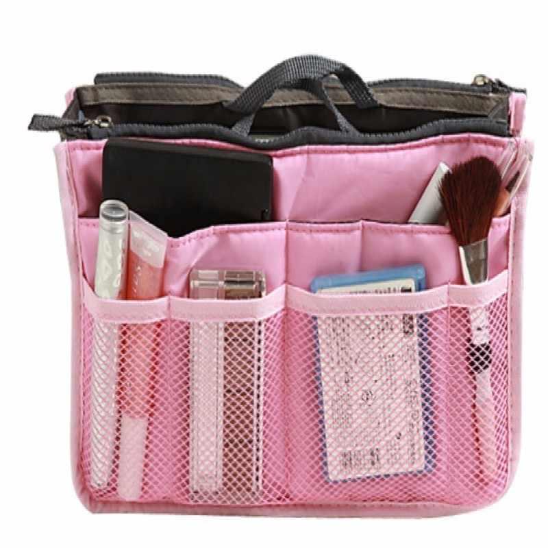 Органайзер, сумка-вкладыш, Женская нейлоновая сумка для путешествий, женская сумочка для макияжа, большой вкладыш, женская косметичка для макияжа, дешевая женская сумка-тоут