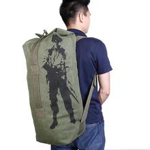 Canvas Backpack Sports Bicycle Bag Rucksack for Outdoor Hiki