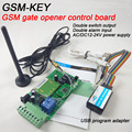 Free shipping GSM controller SMS relay output control board for sliding gate and automatic door remote control