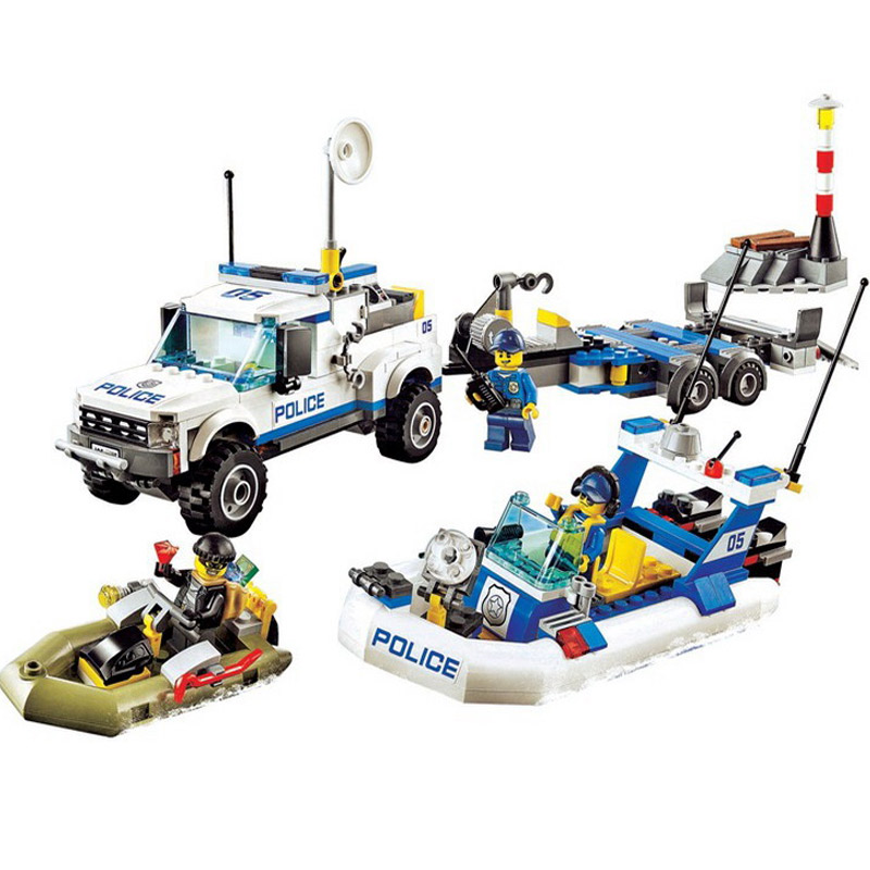 Bela 10421 Urban City Police Patrol Car 60045 Building Block 409pcs Bricks Toys Children Gifts Compatible With Legoings стоимость