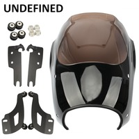 Motorcycle Front Headlight Fairing Windshield Cover Mounting Kit for Harley Touring Road King Classic 1994 2018 2017 UNDEFINED