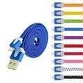 Iluminación de Cable Adaptador de Cable Trenzado de Fideos Plana USB Cargador Rápido Para iphone 6 s plus i6 iphone 5 5s i5 teléfono móvil Cables