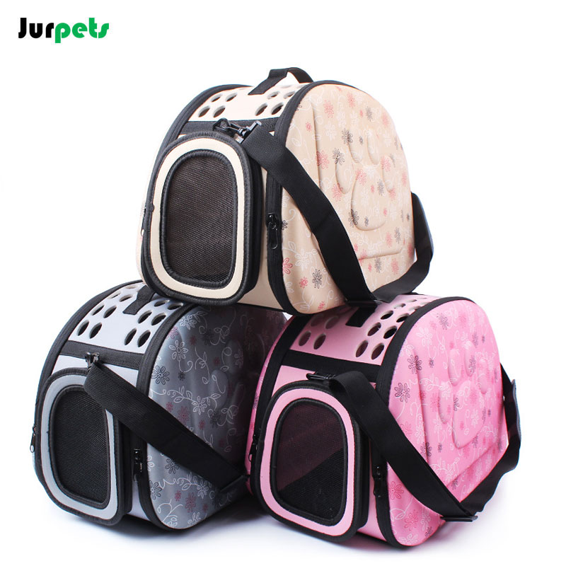 Foldable EVA Pet Carriers Bags Breathable Outdoor Shoulder Bag for Small Pets Dogs Windproof Travel Cats Carrier Collapsible