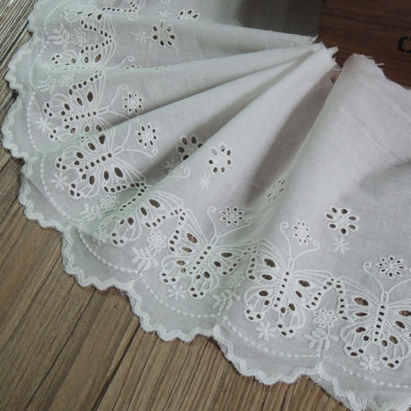 Cotton Clothes Lace Accessories Embroidery Curtains Fabric Handmade DIY Materials Width of About 18.5cm