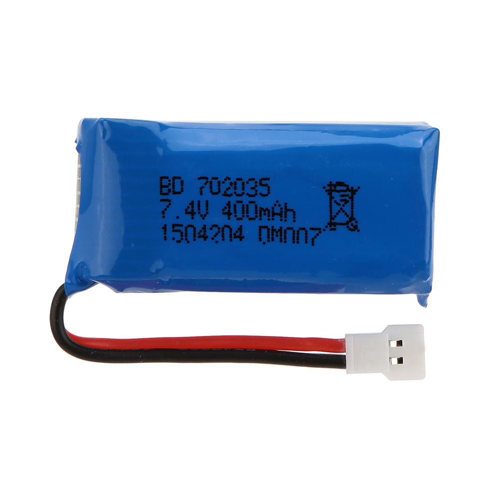 DM007 <font><b>Battery</b></font> New Upgraded <font><b>400mAh</b></font> 30C <font><b>7.4V</b></font> 2S <font><b>Lipo</b></font> <font><b>Battery</b></font> for RC Quadcopter DM007 Parts image