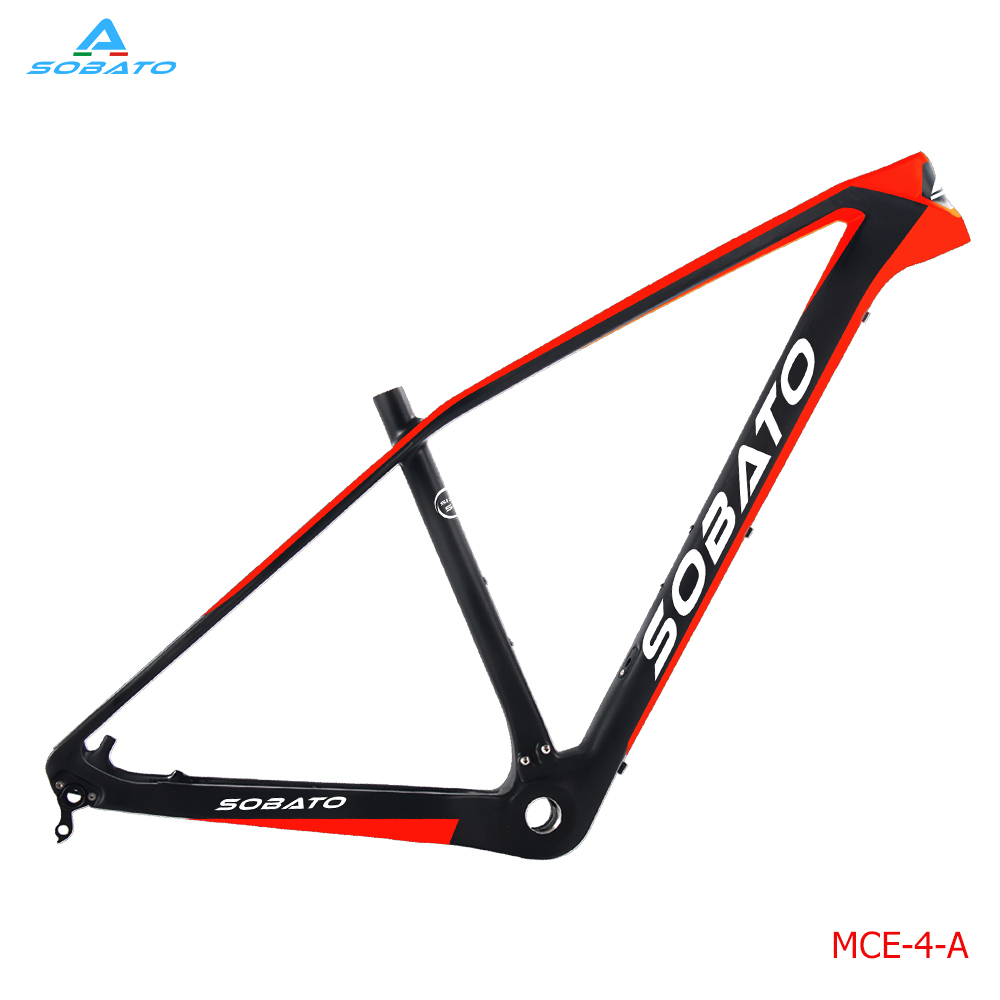2017 SOBATO carbon mtb frame 29 carbon mountain bike frame 142*12mm UD matte glossy bicycle frame  29er mtb carbon frame smileteam new 27 5er 650b full carbon suspension frame 27 5er carbon frame 650b mtb frame ud carbon bicycle frame