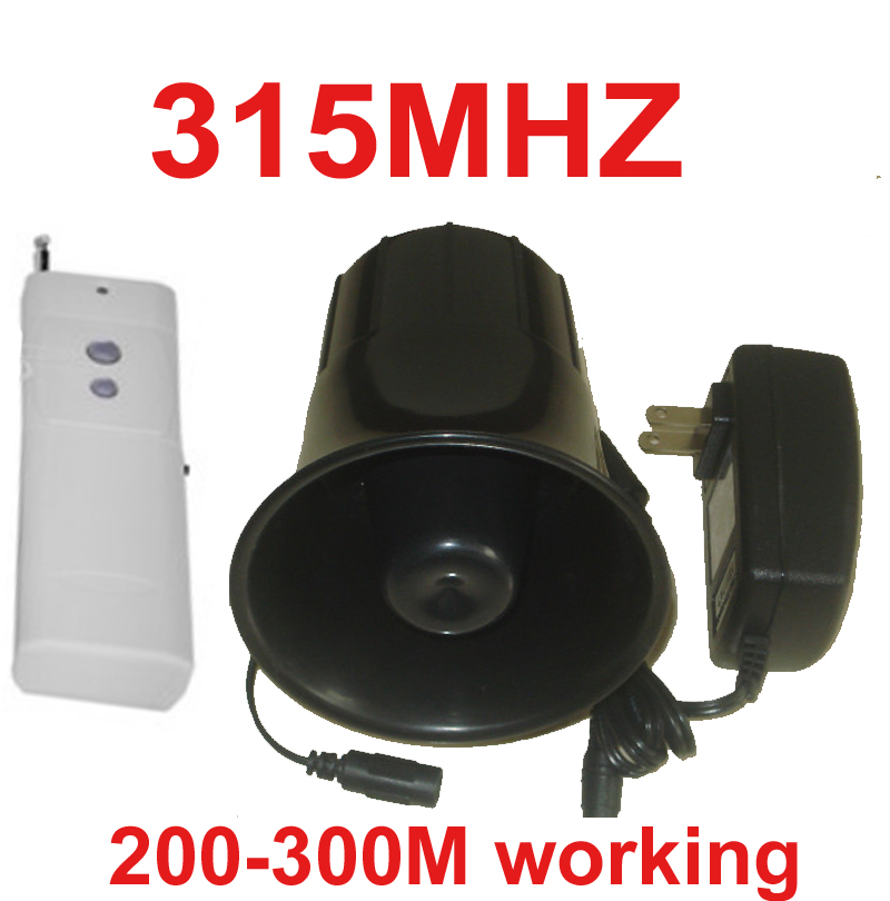 315mhz wireless alarm siren horn 115dB 200Meter long distance work wireless speaker horn alarm machine wireless horn siren horn