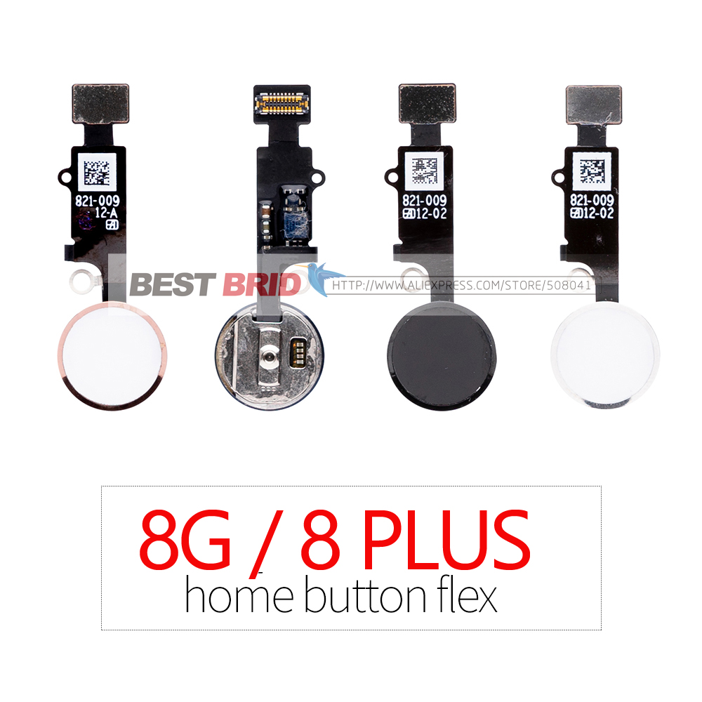 1pcs Home Button with Flex Cable for iPhone 8G 8 Plus Home button Flex Assembly title=