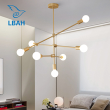 Postmodern lamp personality creative art Nordic lamps simple living room dining bar magic bean chandelier