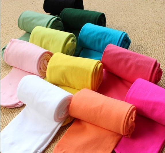 Spring Autumn Children Girls Cotton Long Leggings 10 Kinds Colorful Velvet Candy Color Solid Color Comfortable Leggings 5-12T