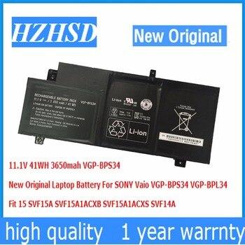 Оригинальный аккумулятор для ноутбука SONY Vaio, 11,1 В, 41 Вт/ч, 3650 мАч, подходит для VGP-BPS34, 15 SVF15A, SVF15A1ACXB, SVF15A1ACXS, SVF14A
