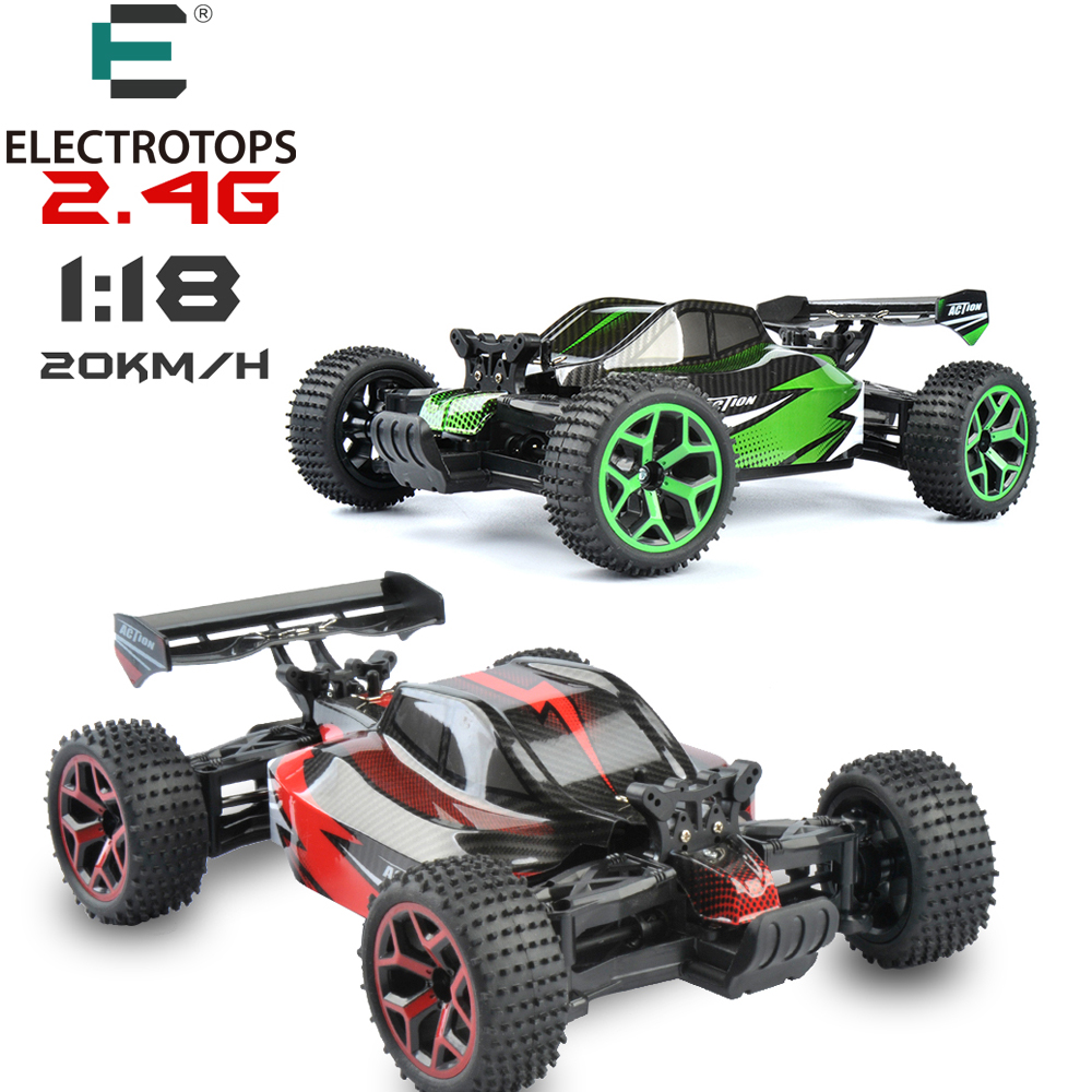 ET RC Car 1/18 Hobby 2.4G Rock Crawlers High Speed 4CH 4WD Race Car Double Motors Drive Buugy Model Off-Road Car RC Toys GS06B